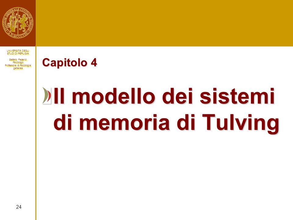 Il modello dei sistemi di memoria di Tulving