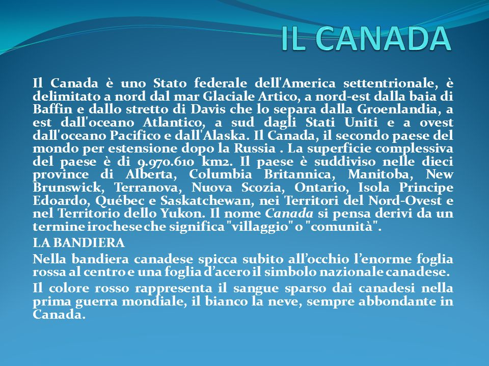 IL CANADA