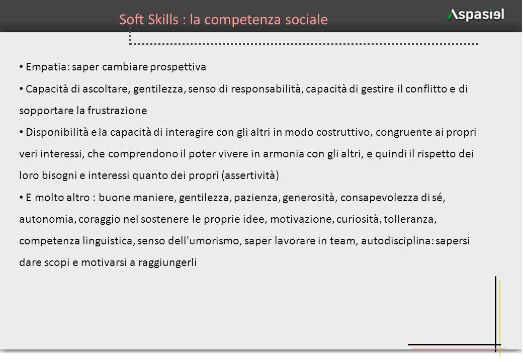 Soft Skills : la competenza sociale