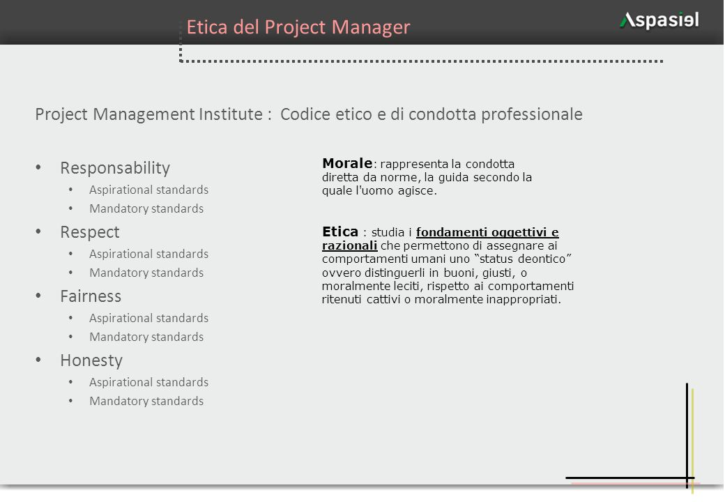 Etica del Project Manager