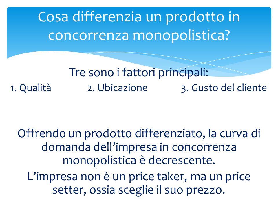 Cosa differenzia un prodotto in concorrenza monopolistica
