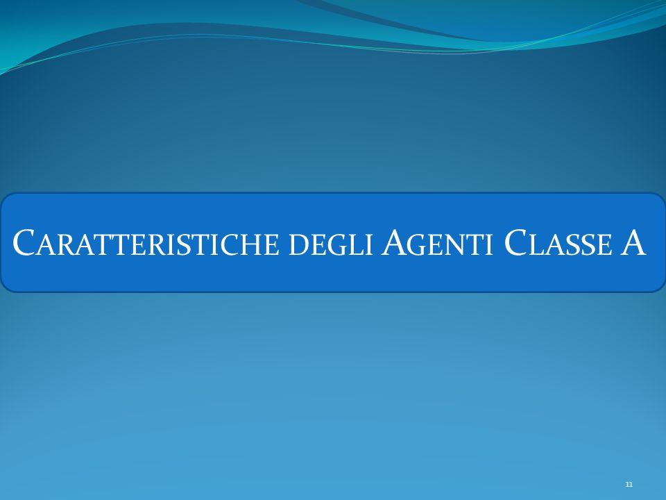 Caratteristiche degli Agenti Classe A