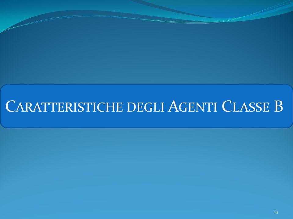 Caratteristiche degli Agenti Classe B