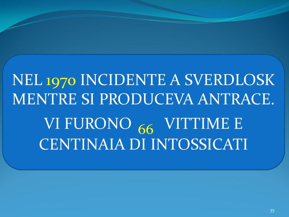 NEL 1970 INCIDENTE A SVERDLOSK