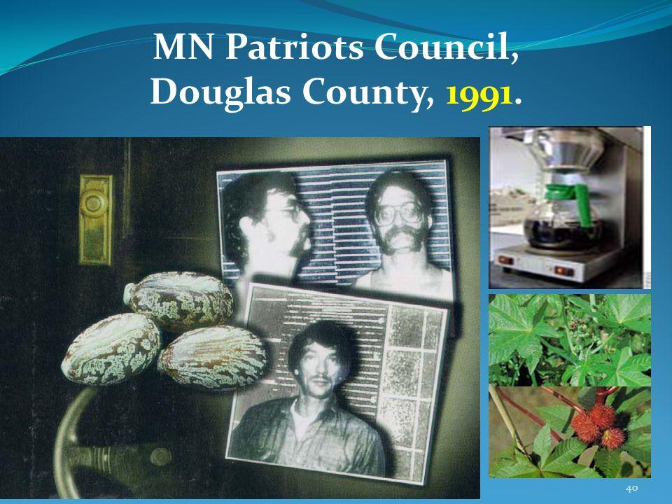 MN Patriots Council, Douglas County, 1991.