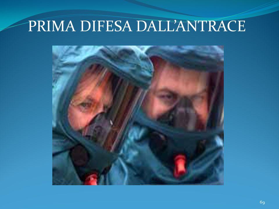PRIMA DIFESA DALL'ANTRACE