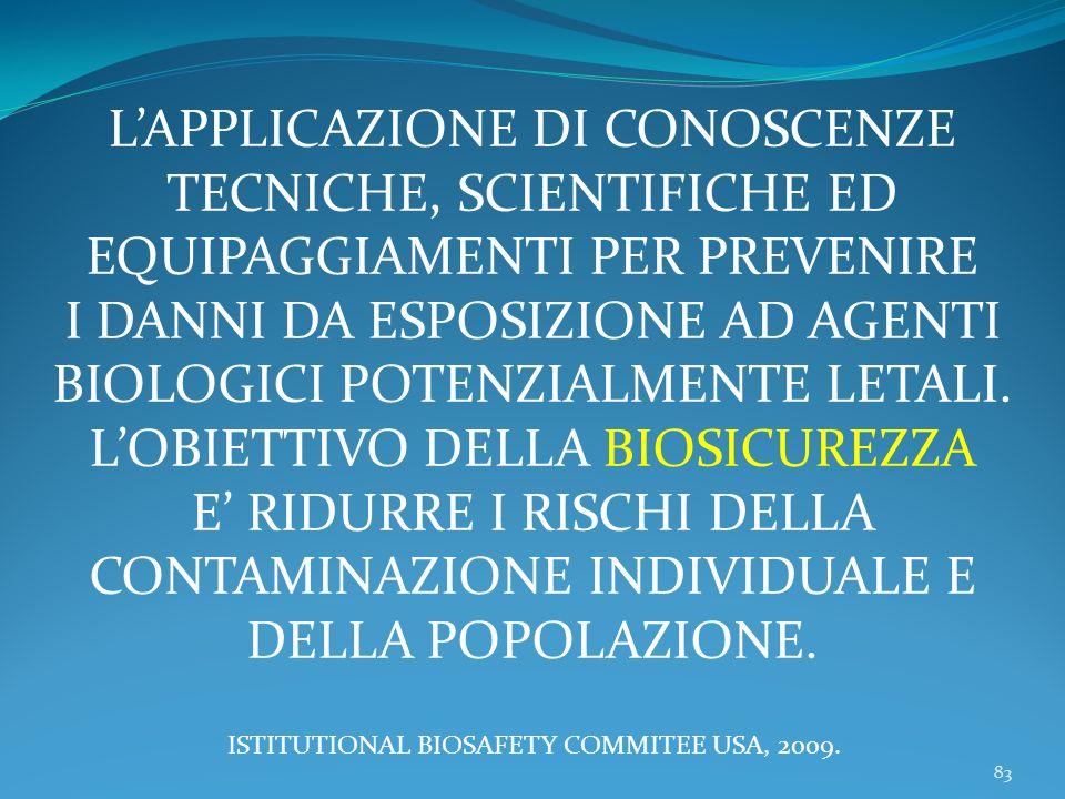 L'APPLICAZIONE DI CONOSCENZE TECNICHE, SCIENTIFICHE ED