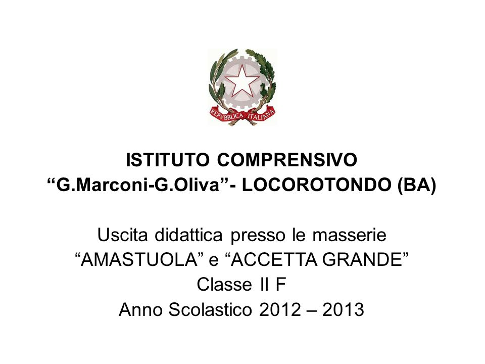 G.Marconi-G.Oliva - LOCOROTONDO (BA)