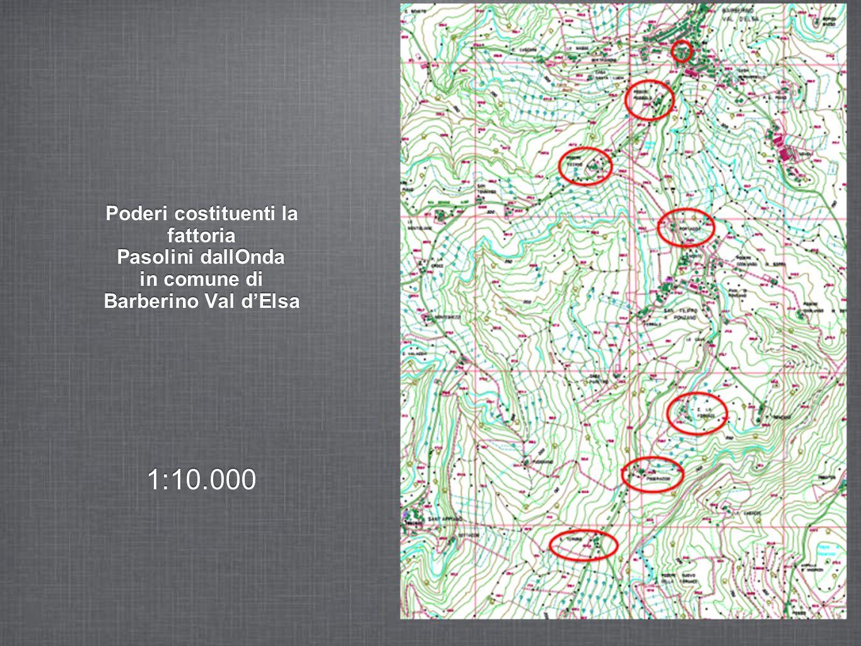 Poderi costituenti la fattoria Pasolini dallOnda in comune di Barberino Val d'Elsa
