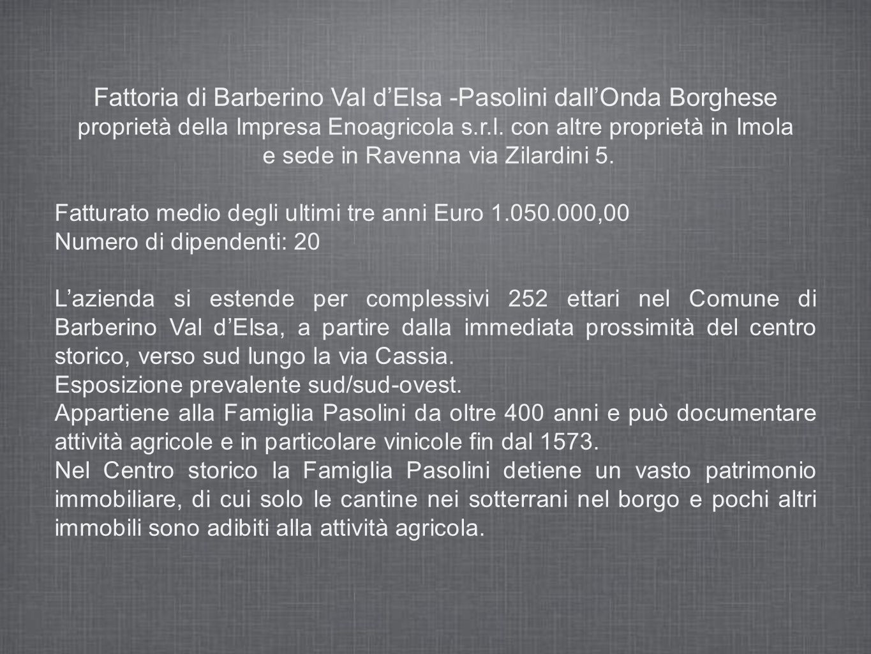Fattoria di Barberino Val d'Elsa -Pasolini dall'Onda Borghese