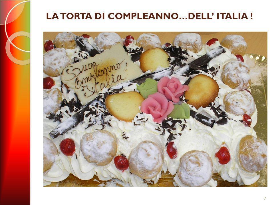 LA TORTA DI COMPLEANNO…DELL' ITALIA !