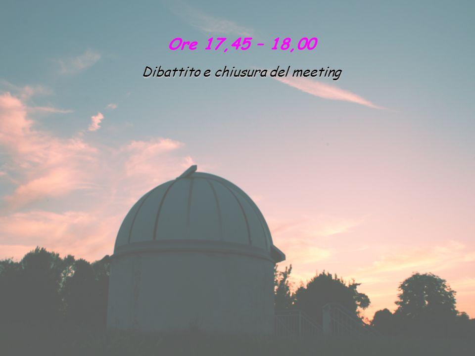 Dibattito e chiusura del meeting