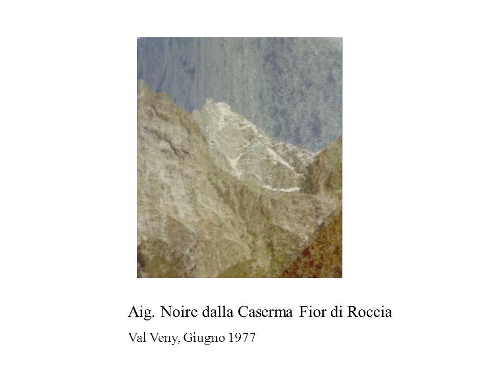 Aig. Noire dalla Caserma Fior di Roccia