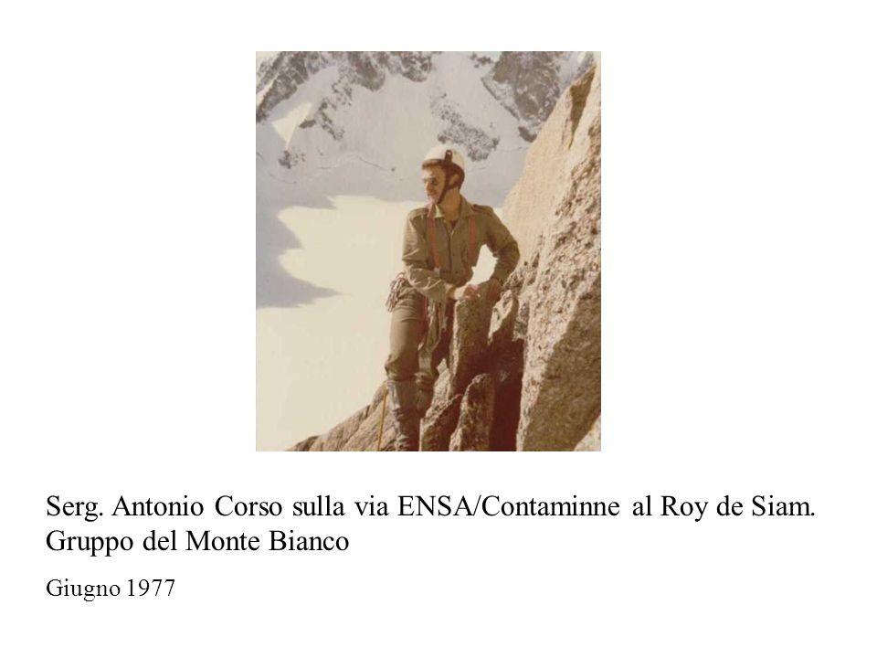 Serg. Antonio Corso sulla via ENSA/Contaminne al Roy de Siam