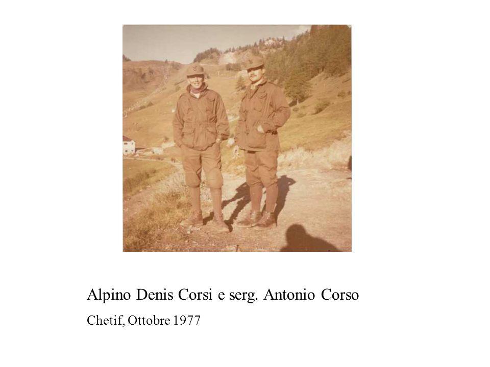 Alpino Denis Corsi e serg. Antonio Corso
