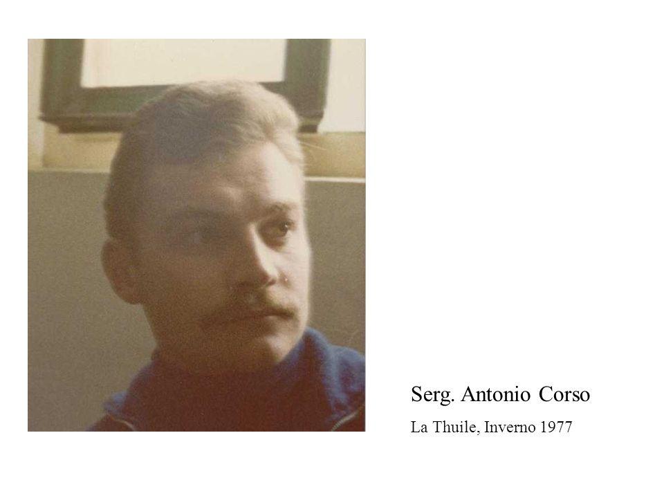 Serg. Antonio Corso La Thuile, Inverno 1977