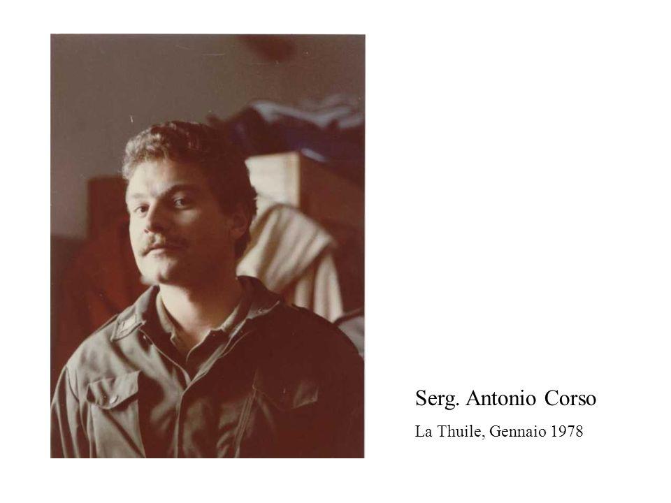Serg. Antonio Corso La Thuile, Gennaio 1978