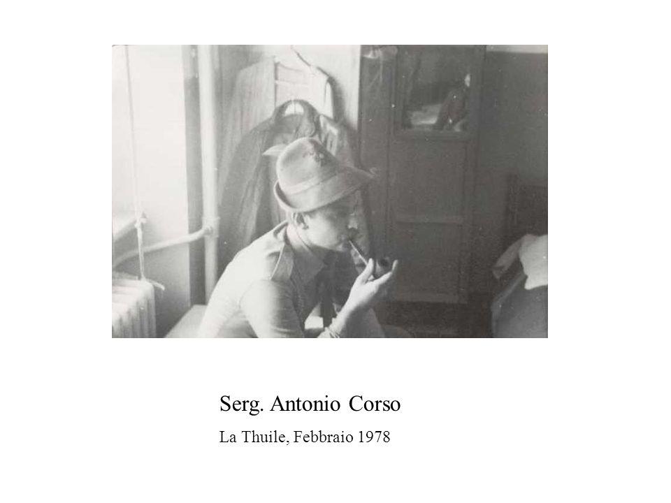 Serg. Antonio Corso La Thuile, Febbraio 1978