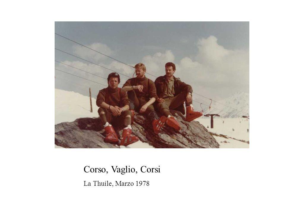 Corso, Vaglio, Corsi La Thuile, Marzo 1978