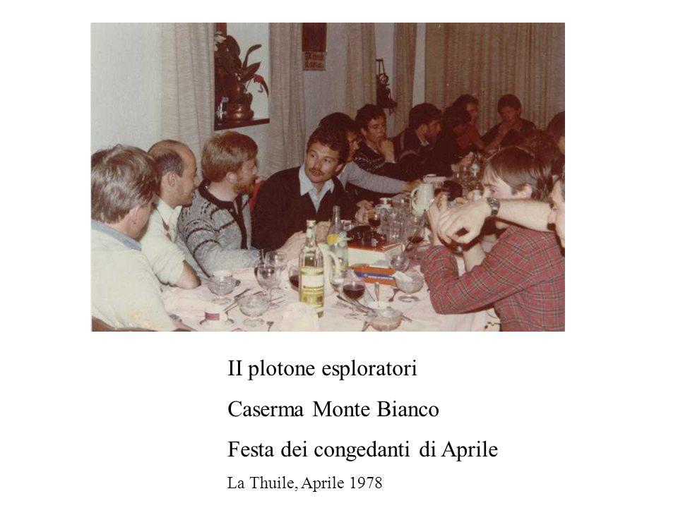 II plotone esploratori Caserma Monte Bianco