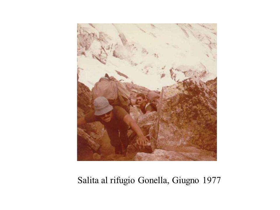 Salita al rifugio Gonella, Giugno 1977