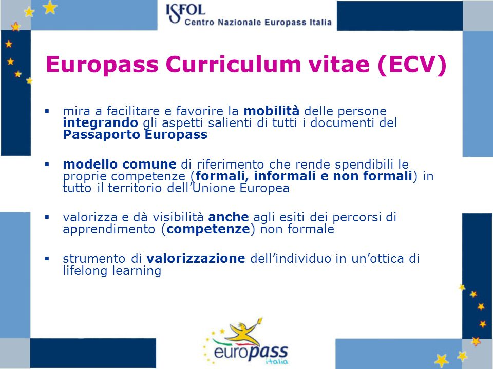 Europass Curriculum vitae (ECV)
