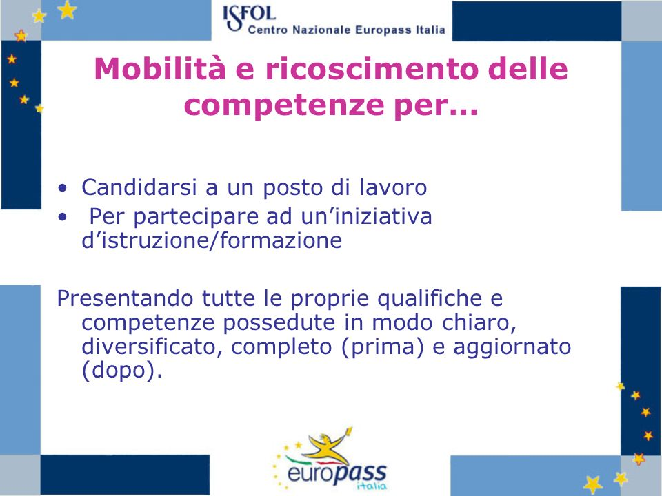 Mobilità e ricoscimento delle competenze per…
