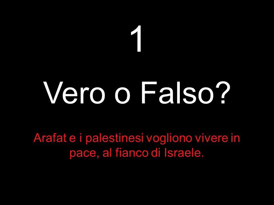 Arafat e i palestinesi vogliono vivere in pace, al fianco di Israele.