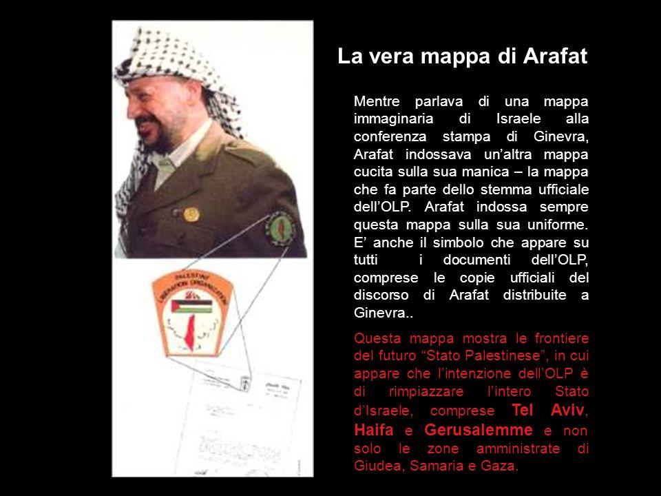 La vera mappa di Arafat
