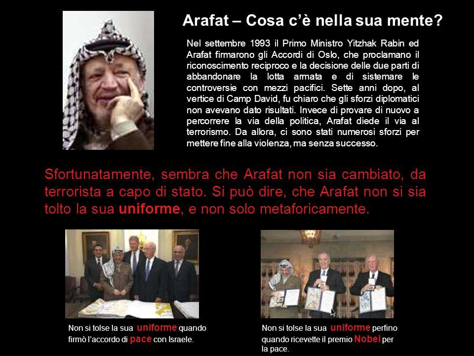 Arafat – Cosa c'è nella sua mente