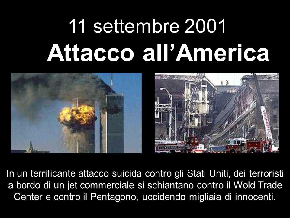 Attacco all'America 11 settembre 2001