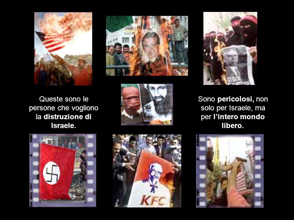 Queste sono le persone che vogliono la distruzione di Israele.