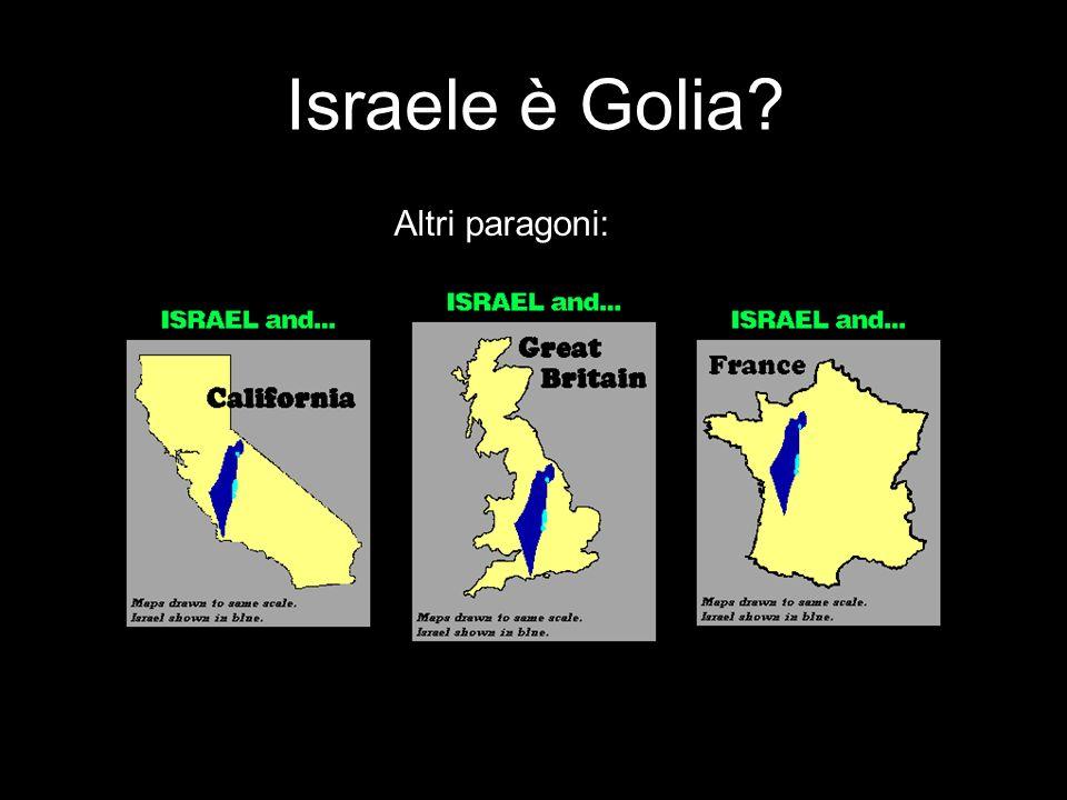 Israele è Golia Altri paragoni: