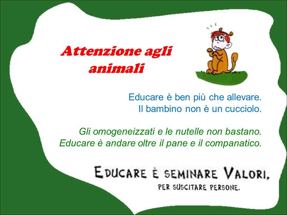 Attenzione agli animali