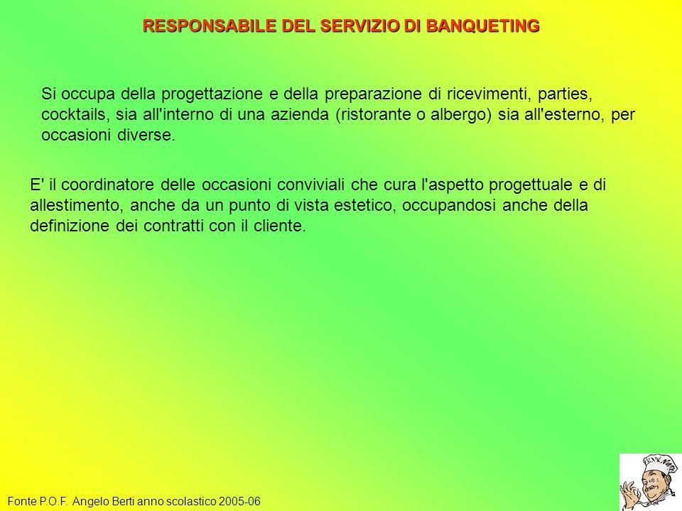 RESPONSABILE DEL SERVIZIO DI BANQUETING