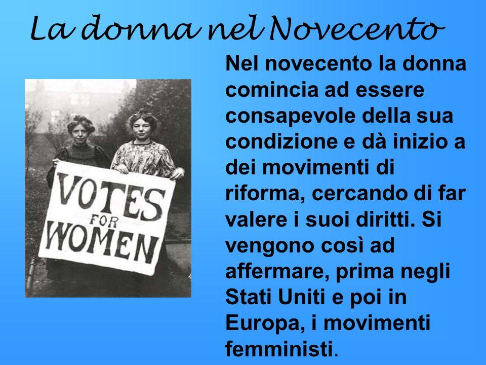 La donna nel Novecento