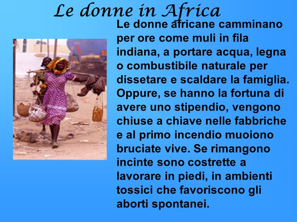 Le donne in Africa