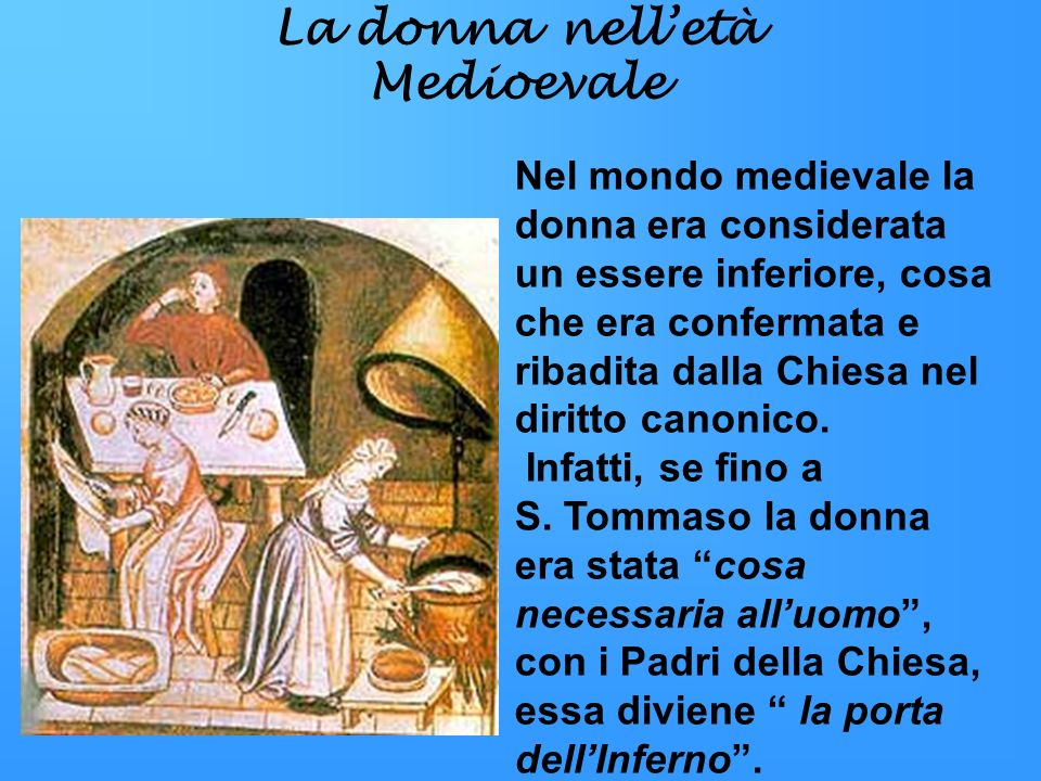 La donna nell'età Medioevale