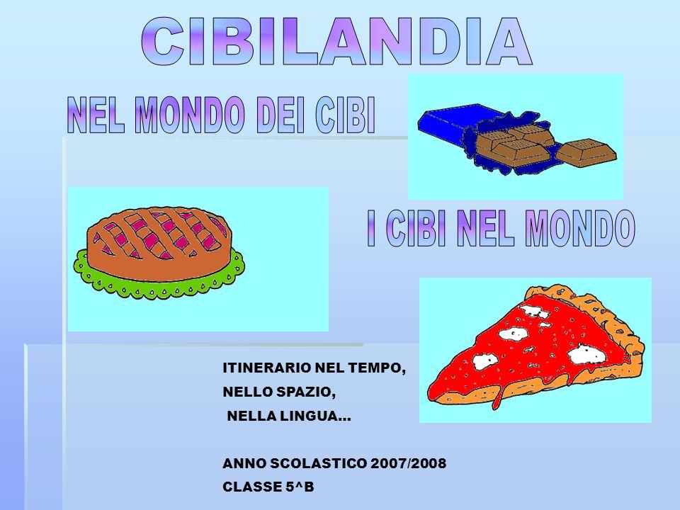 CIBILANDIA NEL MONDO DEI CIBI I CIBI NEL MONDO ITINERARIO NEL TEMPO,
