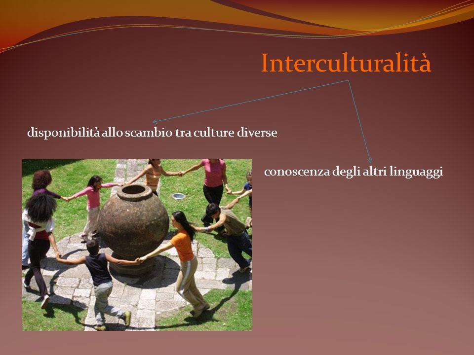 Interculturalità disponibilità allo scambio tra culture diverse