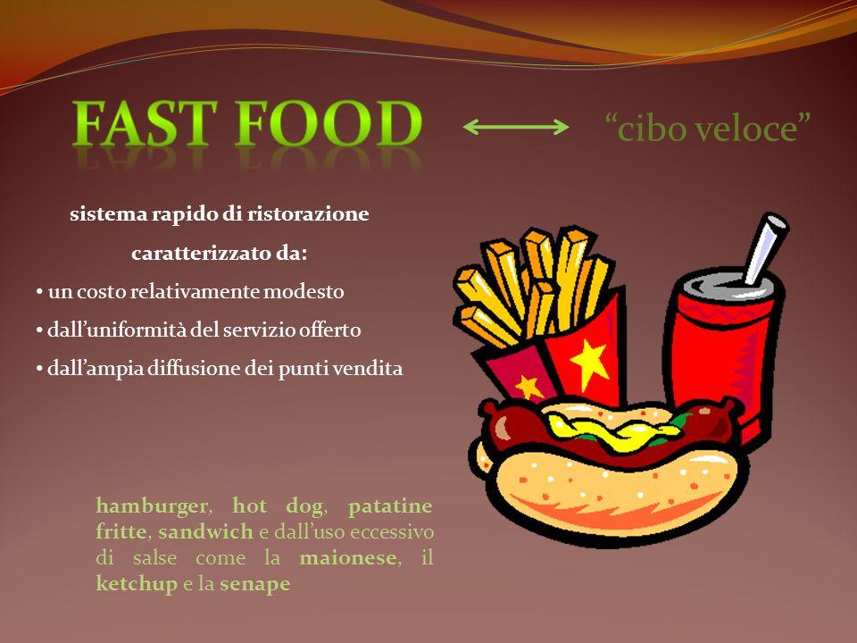 sistema rapido di ristorazione caratterizzato da: