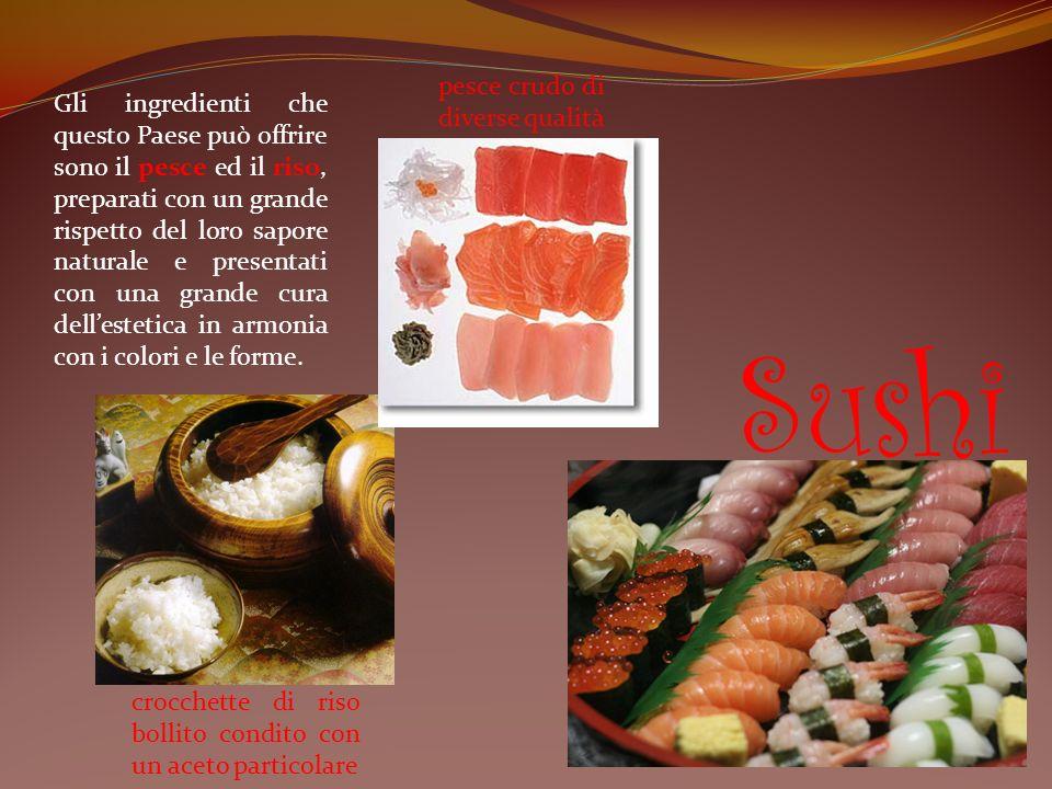 Sushi pesce crudo di diverse qualità