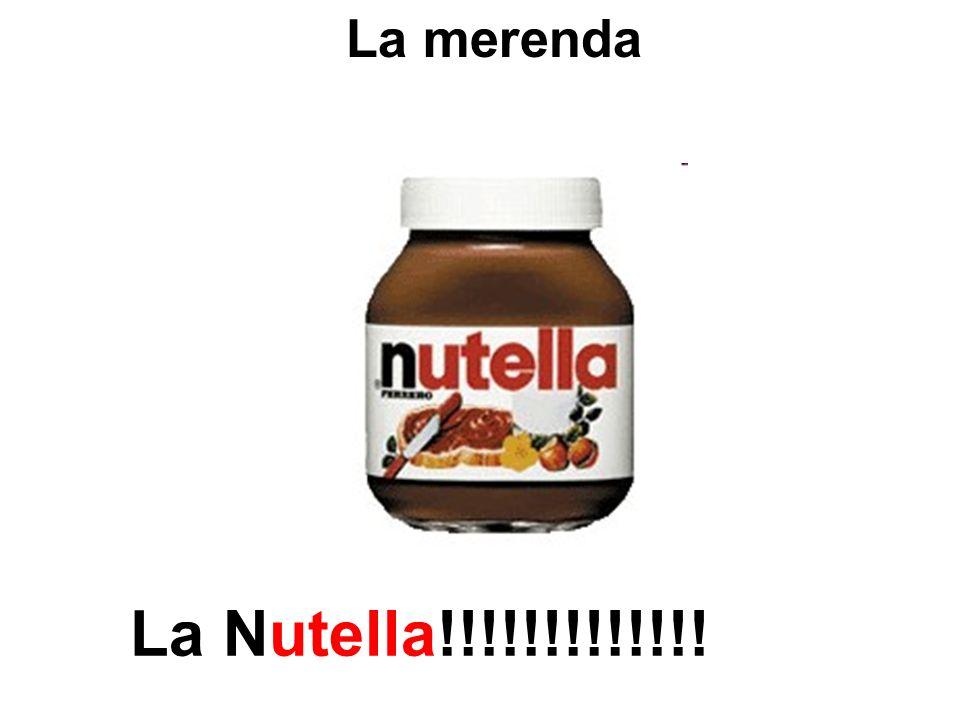 La merenda La Nutella!!!!!!!!!!!!!