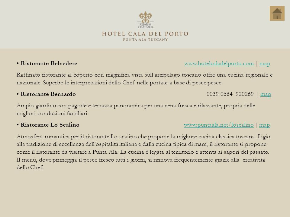 Ristorante Belvedere www.hotelcaladelporto.com | map