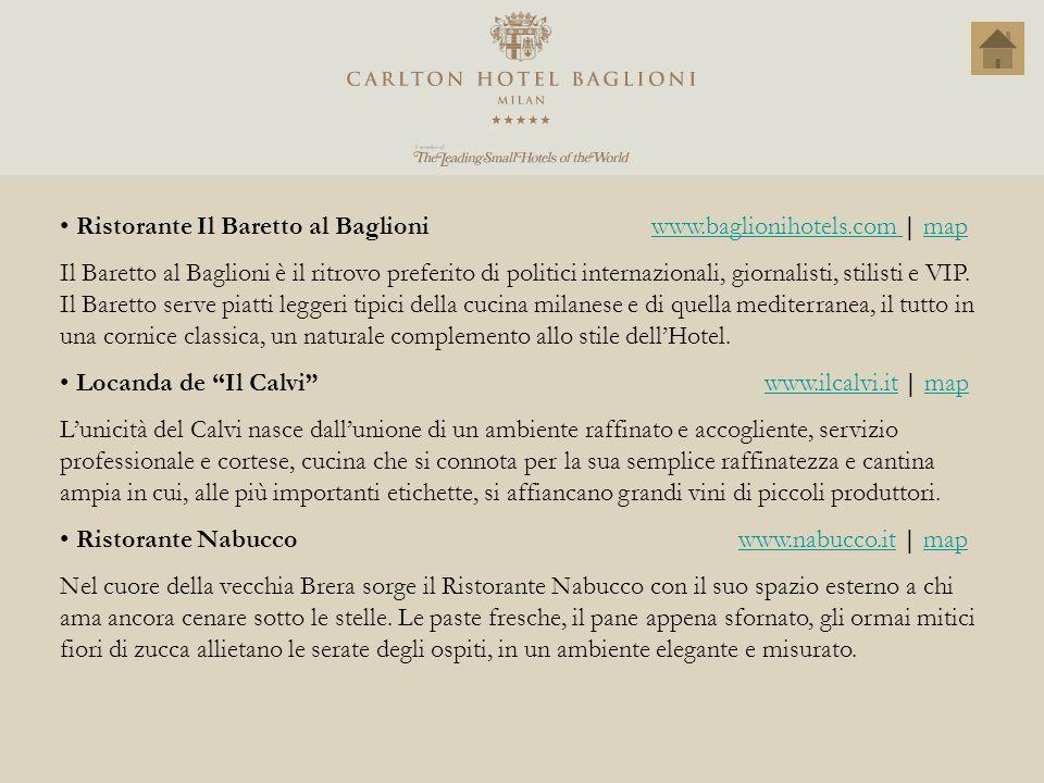 Ristorante Il Baretto al Baglioni www.baglionihotels.com | map