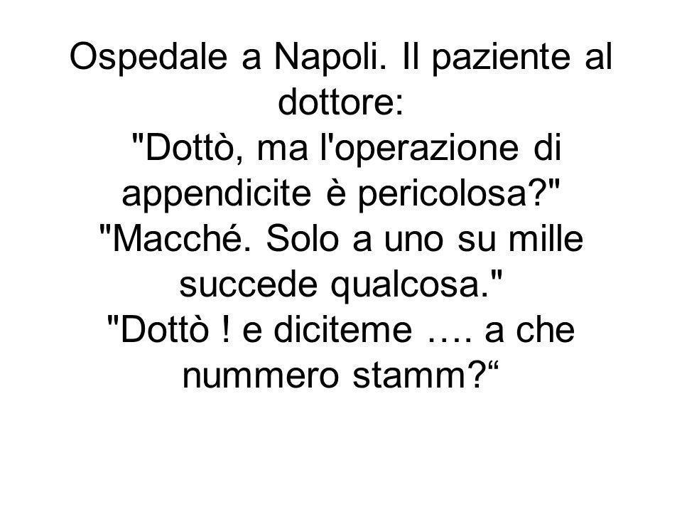 Ospedale a Napoli.