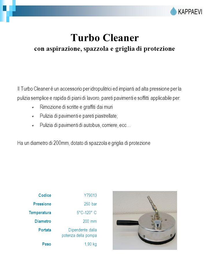 Turbo Cleaner con aspirazione, spazzola e griglia di protezione