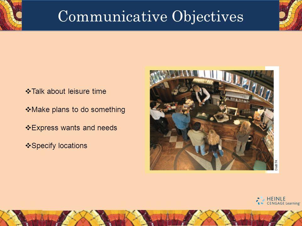 Communicative Objectives