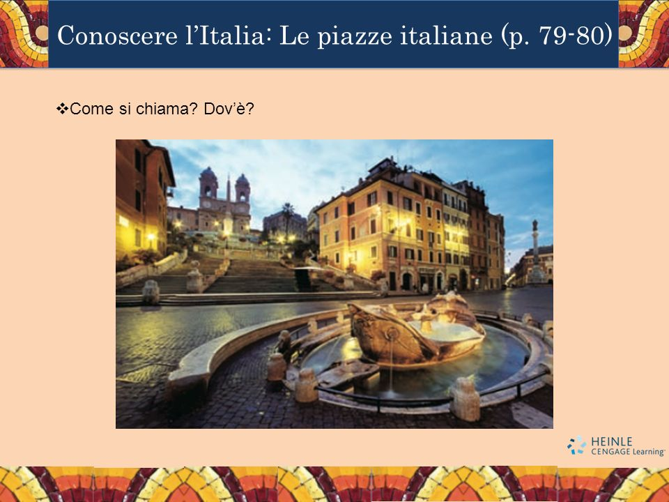 Conoscere l'Italia: Le piazze italiane (p. 79-80)