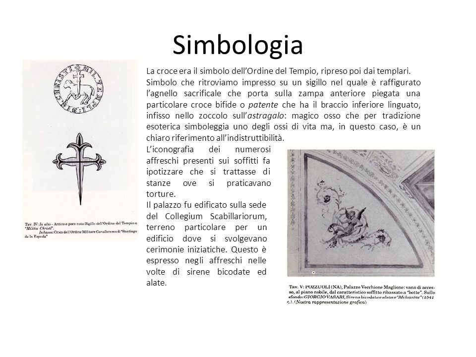 Simbologia La croce era il simbolo dell'Ordine del Tempio, ripreso poi dai templari.